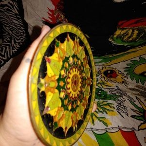 Other - Vintage brass bohemian enameled wall hanging